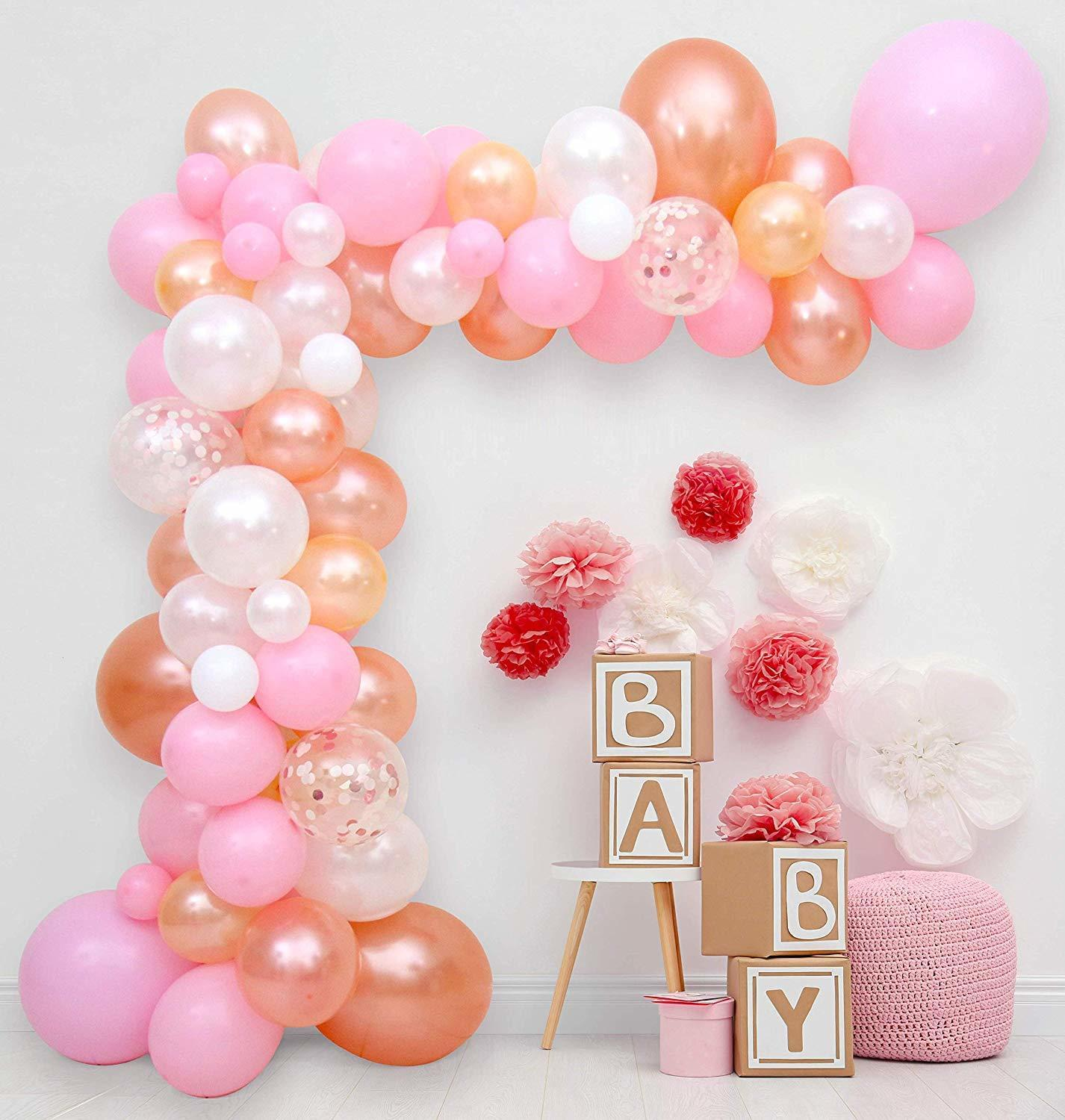 Balloon Arch Garland Kit Step By Step Instructions Blush Pink Rose Gold Baby Showers Birthdays Weddings Engagements